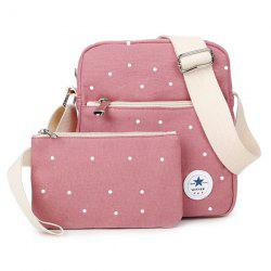 Pocket Polka Dot Crossbody Bag