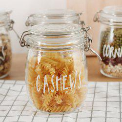 Cashews Letters Glass Bottle Sealed Cans Storage -