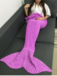Comfortable Warmth Knitted Sofa Bed Mermaid Blanket -