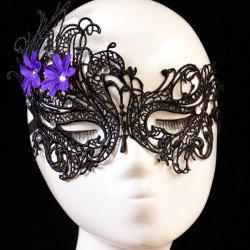 Rhinestone Floral Elastic Hair Band Party Mask