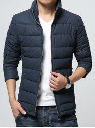 Stand Collar Zip-Up Padded Jacket -