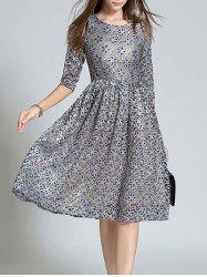 Fitting Jacquard Lace Dress -