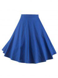 Plain Zippered A-Line Circle Skirt
