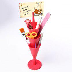 Creative Multilayer Funnel Shaped Stationery Storage Box -