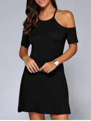 Cold Shoulder Mini Dress -