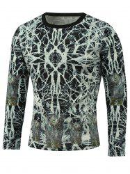 Abstract Pattern Long Sleeve T-Shirt