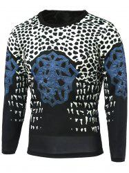 Leopard Print Abstract Pattern Color Block T-Shirt