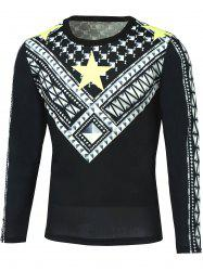 Long Sleeve Geometric Printed T-Shirt