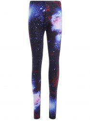 Elastic Waist Galaxy Printed Leggings
