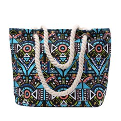 Ethnic Style Tribal Print Beach Shoulder Bag - GREEN