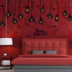 Room Decorative Pumpkin Lantern Halloween Wall Sticker
