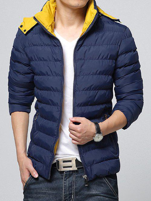 Hot Hooded Color Block Zip-Up Padded Jacket