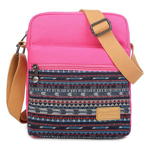 Discount Zip Canvas Crossbody Bag