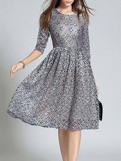 Shops Fitting Jacquard Lace Dress