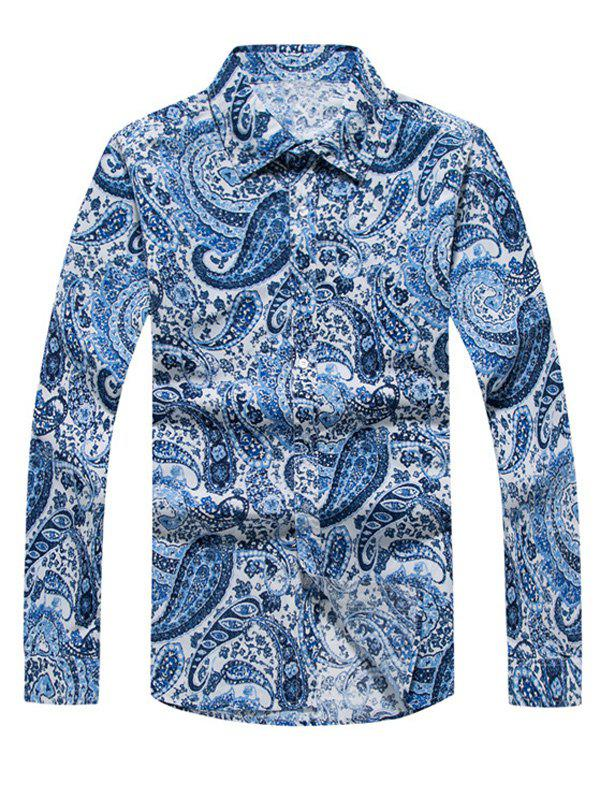 Buy Casual Paisley Printed Long Sleeve Hawaiian Shirt