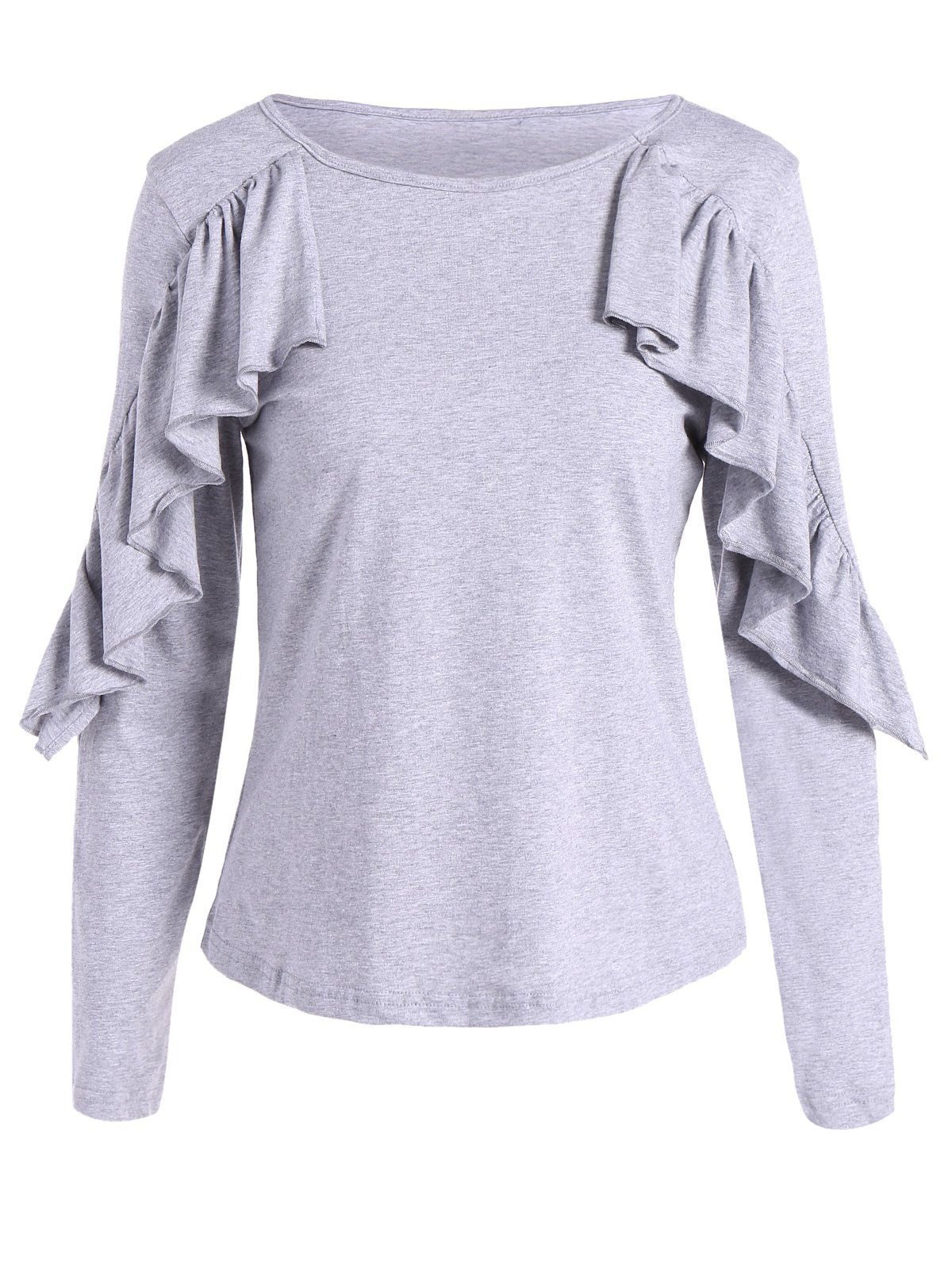 Discount Long Sleeves T-Shirt With Frill