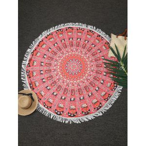 Tassels Print Beach Throw