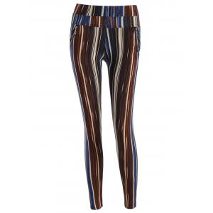 Stripe Pattern Empire Pants