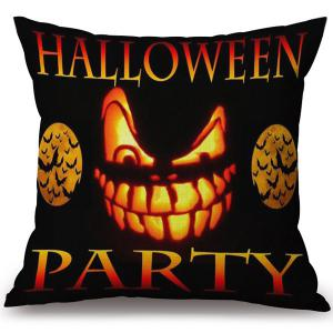 Soft Happy Halloween Party Printed Decorative Pillow Case