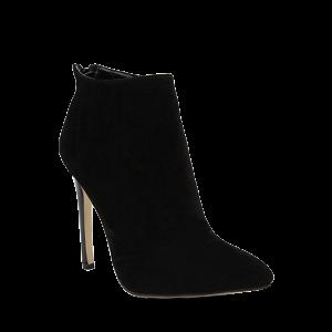 Pointed Toe Stiletto Heel Ankle Boots - Black - 40