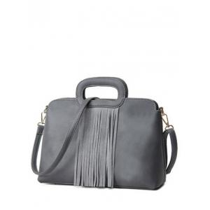 Metal Fringe PU Leather Tote Bag