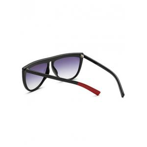 Streetwear Color Block Leg Oversized Polarized Sunglasses - BLACK