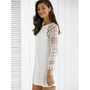 Lace Sleeve T-Shirt Dress -
