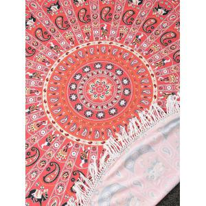 Tassels Print Beach Throw -