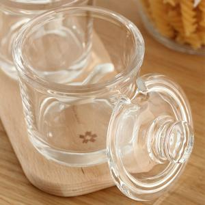 Healthy Accessories Glass Flat Cover Seasoning Cans -