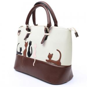 Ladylike Animal Pattern and Color Block Design Women's Tote Bag -