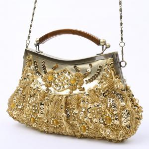 Party Elegant Beaded and Sequins Design Women's Evening Bag -