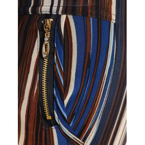 Stripe Pattern Empire Pants - STRIPE ONE SIZE