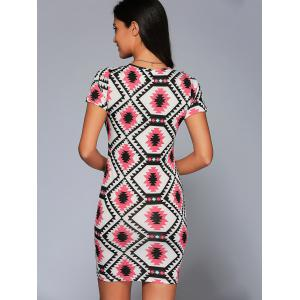 Geometric Print Bodycon Dress -