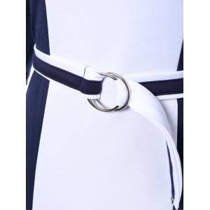 Zipper Up Sheath Dress With Belt -