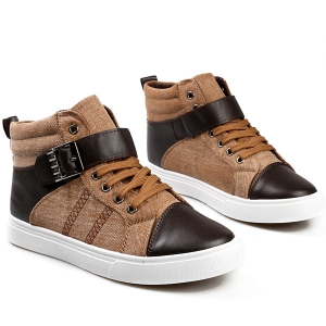 Tie Up Buckle Denim Casual Shoes -