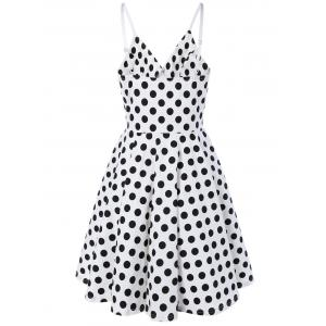 Spaghetti Strap Polka Dot Swing Dress -