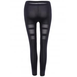 Cut Out Ninth Skinny Pants - BLACK ONE SIZE