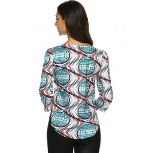 Rounded Hem Printed Top -