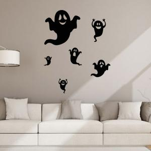 Ghost Design Removable Room Halloween Wall Sticker - BLACK