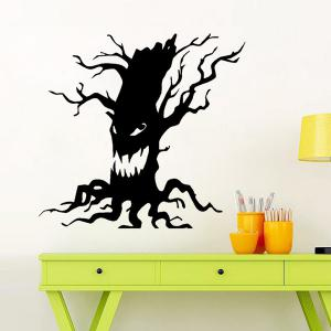 Ghost Tree Design Removable Room Halloween Wall Sticker - BLACK