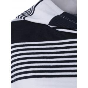 High-Low Striped Hoodie -