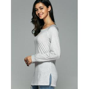 Open Back Long Sleeve T-Shirt -