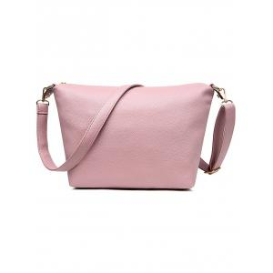 PU Leather Painted Buckle Strap Shoulder Bag -