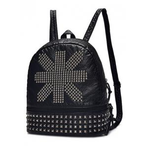 Punk Rivet PU Leather Backpack -