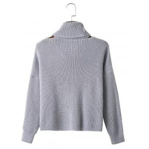 Hollow Out Textured Knitted Sweater -