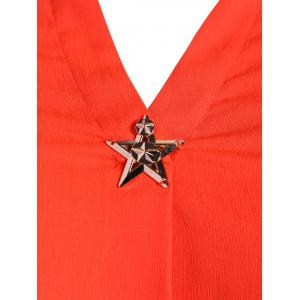 Plus Size Star Decorated Blouse -