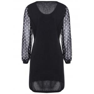 Polka Dot Spliced Slimming Dress -