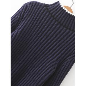 Ribbed Bell Sleeves Bowknot Sweater -