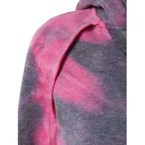 Ombre Topstitched Pocket Design Hoodie -