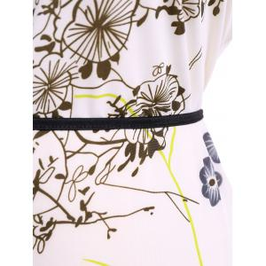 Plus Size Belted Print T-Shirt -